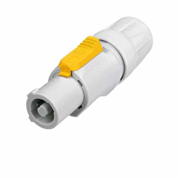 Grey Powercon Connector